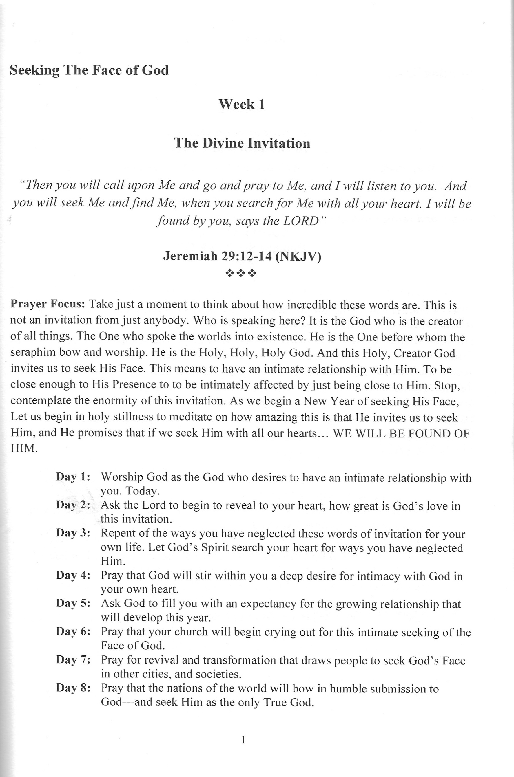 """NEW!! """"Seeking The Face of God Prayer Guide"""" !!!   Your"""